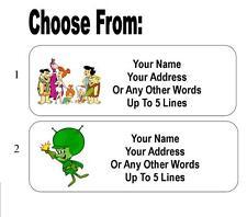 30 Flintstones or Great Gazoo Personalized Address Labels