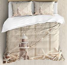 Underwater Duvet Cover Set with Pillow Shams Marine Fishing Net Print