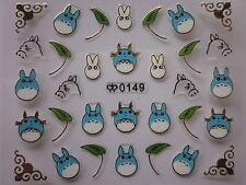 Adesivi per unghie TOTORO MIYAZAKI ANIME finiture in ORO nail art 3D stickers