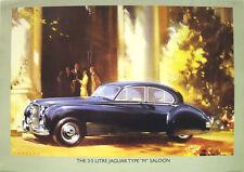Jaguar 3.5 Mk VII M Saloon Classic Car Poster