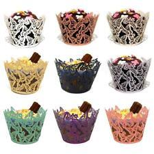 12/25/50 x FARFALLA Cupcake wrapper casi LASER CUT matrimoni compleanno DOCCIA