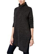 Rachel Roy Womens Asymmetrical Turtleneck Knit Sweater