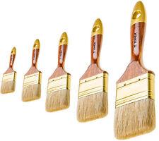 1 - 50 Pinsel - Set Malerpinsel Flachpinsel Lackierpinsel Naturborsten Holzgriff