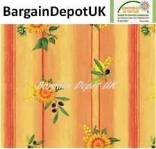 Sunflower Lemon Olive PVC Wipe Clean Vinyl Tablecloth ALL SIZES - Code: F377-1
