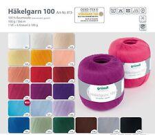 (3,99 EUR/100 g) Gründl Häkelgarn 100, Filethäkelgarn,100 % Baumwolle, Garn