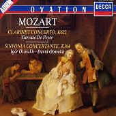 Mozart: Clarinet Concerto, Sinfonia Concertante / Maag/Gervase de Peyer/Oistrakh
