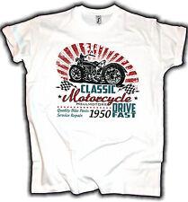 Biker T-Shirt Drive Fast Vintage Old School Motorrad Oldtimer Motorcycle Chopper