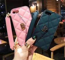 3D Handbag Back Cover Phone Case Credit Card Pocket+Hanging chain Protector Skin