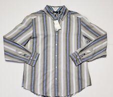 NWT DKNY JEANS MENS SHIRT SLIM FIT GALAXY BLUE (L) #75