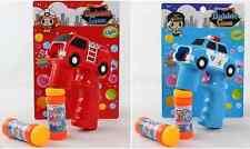Auto Pistola de burbujas Pistola de burbujas led luminoso y sonido rojo / Azul