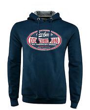 GoodYear Hoodie Blue Sweatshirt ALL AMERICAN Motorcycle Auto Biker Hot-Rod S-3XL