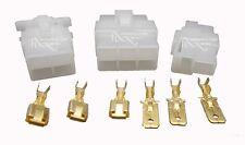 Connector Blocks & 6.3mm Tab Connectors 2, 4 or 6 wire Motorcycle Generator ATV