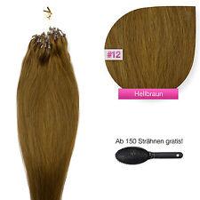 Remy Echthaar Microring Extensions Haarverlängerung #12 hellbraun 1g