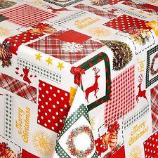 toile cirée nappe table au mètre Noël moderne carré rond OVAL 01047-00