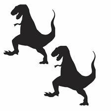 2 x Dinosauro Adesivo 10cm - 1M auto Finestra Adesivo Parete Decalcomania Pack n. 30 Nero