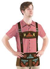 OKTOBERFEST Red Checker Allover German Beer Waiter Guy Costume Mens T-Shirt S-2X