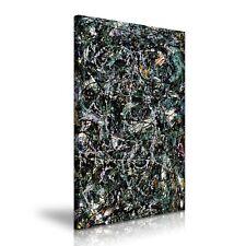 Jackson Pollock Full Fathom Five detalles Arte Moderno Abstracto Lienzo estirada