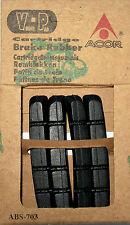 4 x BREMSGUMMI V-BRAKE CARTRIDGE ACOR Länge ca. 70 mm ABS-703 Shimano kompatibel