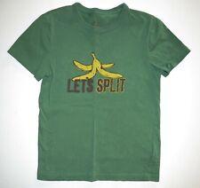 Mini Boden vintage print graphic short sleeve Let's Split tee shirt top 7 8 Y