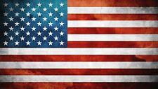 BANDIERA americana USA Stati Uniti d'America Sticker Autoadesivo