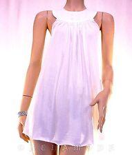 T-shirt Tunique Top Haut IDEO 100% Coton Bio blanc Broderie T 38 / 40 M / L NEUF