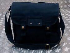 Military Style Canvas / Haversack / Satchel / Festival Shoulder Bag Black - NEW