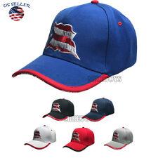 Embroidered 3D USA Flag /& Bald Eagle Baseball Hat Cap w// Black Vent Holes BOXED