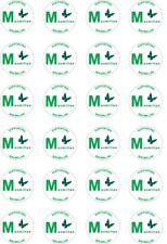 24x Soporte de cáncer Precortada Macmillan D/taza de papel de oblea de caridad arroz/Cake Toppers