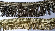 Borte Fransenborte 1 Meter weich Lurex gold und silber