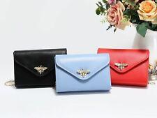 Women Clutch Bag PU Leather Bee Embellished Envelope Evening Party Bridal Bag