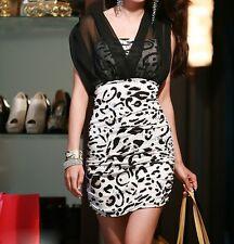 Schickes City Kleid Minikleid mit Bolero-Top schwarz-weiß Gr. 34 36 38