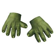 Child Marvel Movie The Avengers Hulk Soft Green Monster Costume Accessory Gloves