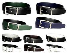 2-Pack: Men's Genuine Leather Reversible Dress Belts - Assorted Colors