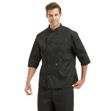 TopTie 3/4 Sleeve Chef Coat Jacket Unisex Kitchen Cook Cooking Class Uniform