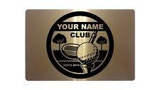 Personalised Golf Club Name & Year Metal Aluminium Plaque Vintage Sign 23x15cm