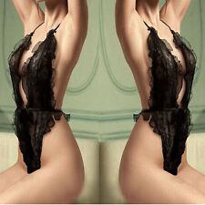 Sexy Lingerie Black Lace Costume Babydoll Bra Beach Bikini Lingerie Set