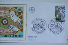 ENVELOPPE PREMIER JOUR SOIE 1978 FLEURIR LA FRANCE