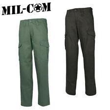 Milcom Mil-Com Heavyweight Combat Trousers 100% Cotton Black Green