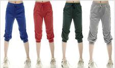 NEW Women Sporty Harem Baggy Hip Hop Dance Capri Shorts Sport Pants Sweatpants