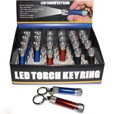 Mini LED Torch Keyring Keychain Flashlight SUPER STRONG Camping Light Garage UK
