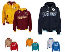 NFL Game Time Reversible Heavy Full Zip Hoodie Jacket Men's S, M G-III