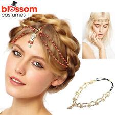 K491 Bridal Vintage Headpiece 20s Flapper Headband Gatsby Bohemia Boho Goddess