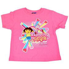 Nickelodeon Dora The Explorer Boots Exploring Style Girls Toddler Tshirt Tee