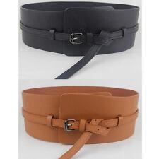 Women 10cm Wide Faux Leather Waist Belt Corset Ladies Fashion Waistband Cinch