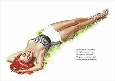 "1974 /""Skeet Club/"" Vintage Style Elvgren Pin-Up Girl Shooting Poster 16x20"