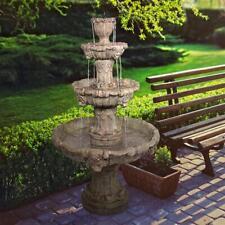 Design Toscano Medici Lion Four-Tier Fountain: Brown Stone