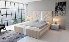 Designerbett Bettgestell Modern IMPERIA Bett Doppelbett Lederbett LED Ehebett