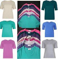 LADIES Ex M&S ROUND-NECK,CASHMILON™JUMPER 8,10,12,14,16,18,20,22 24.FREE POST