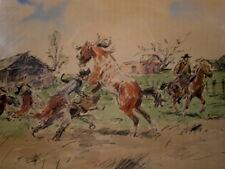 Enrique Castells Latin American  /Uruguay Western Cowboys & Horses signed WC