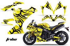 AMR RACING GRAPHICS DECAL WRAP KIT- YAMAHA R1 STREET BIKE, 2010-2012 TRIBE YELL